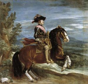 ベラスケスが描いたフェリペ4世騎馬像
