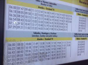 空港バス時刻表