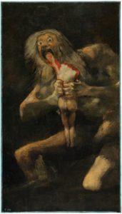 プラド美術館ゴヤ、わが子を食らうサトゥルヌス