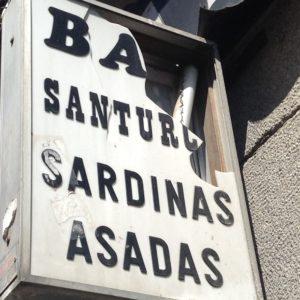 バル、サントゥルセ看板