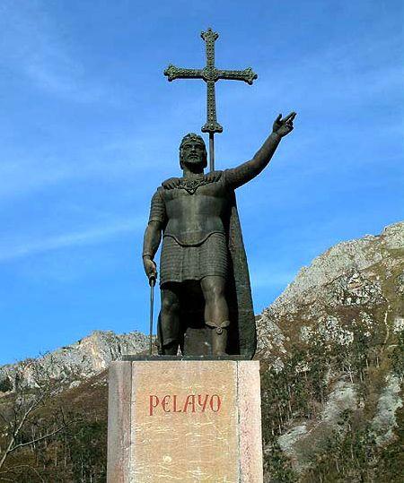 コバドンガにあるペラヨ像