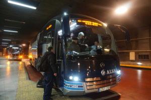 トレド行きバス