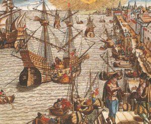 セビージャの港16世紀