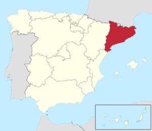 カタルーニャ地図
