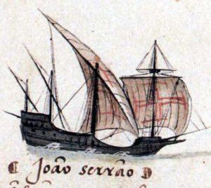 ポルトガルのカラヴェル船