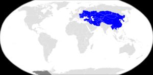 モンゴル帝国最大図