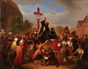 免罪符を売る修道士