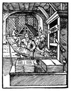 1568年印刷をする職人