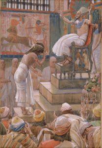 ヨセフ、エジプトのファラオに迎えられる