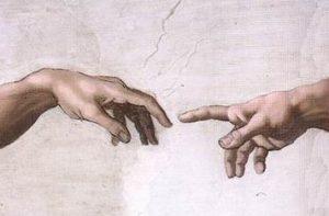 システィーナ礼拝堂、ミケランジェロの神の手