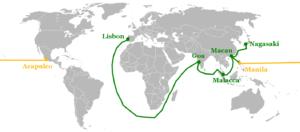 ポルトガルの交易路