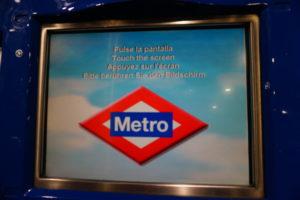 マドリード地下鉄、切符自販機