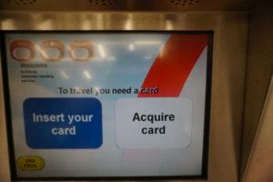 マドリード、メトロ切符自販機