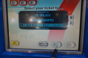 マドリード地下鉄切符自販機