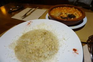 モンダルエゴの山小屋の夕食