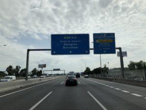 マドリードからカタルーニャ途中