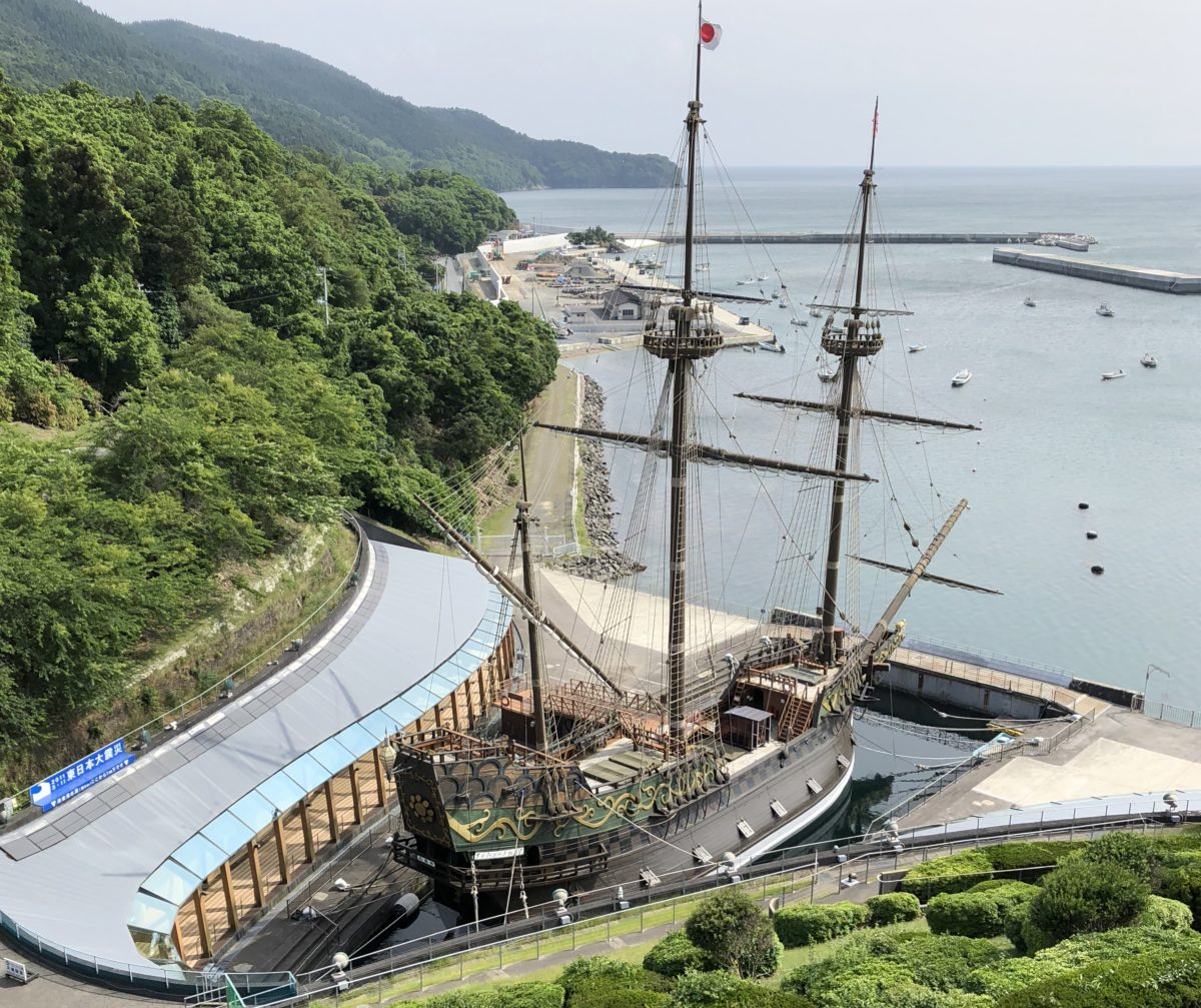 石巻のサン・ファン・バウティスタ号、慶長使節団の船の復元船を見に行ってきました。