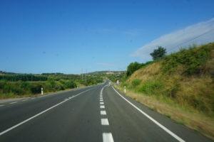 ウエスカの道路