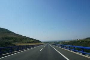 マドリードへ向かう道路