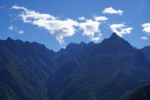 マチュピチュからアンデス山脈