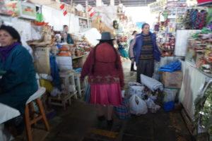 クスコの市場