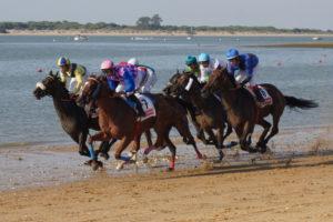 サンルーカルのビーチ競馬