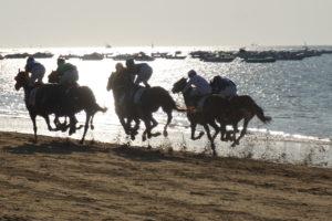 サンルーカル、ビーチ競馬