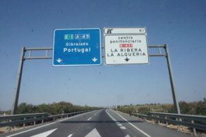 サンルーカルからポルトガルへ道路