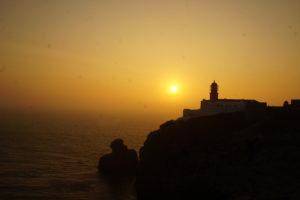 サンビセンテ岬からの夕日