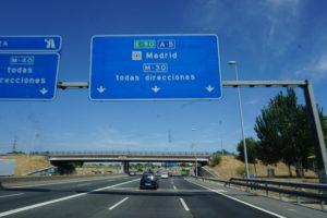 マドリードに向かう高速