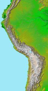 アンデスの地図
