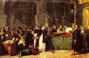 インカの皇帝の死の絵