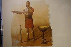 紀元前の燭台の絵