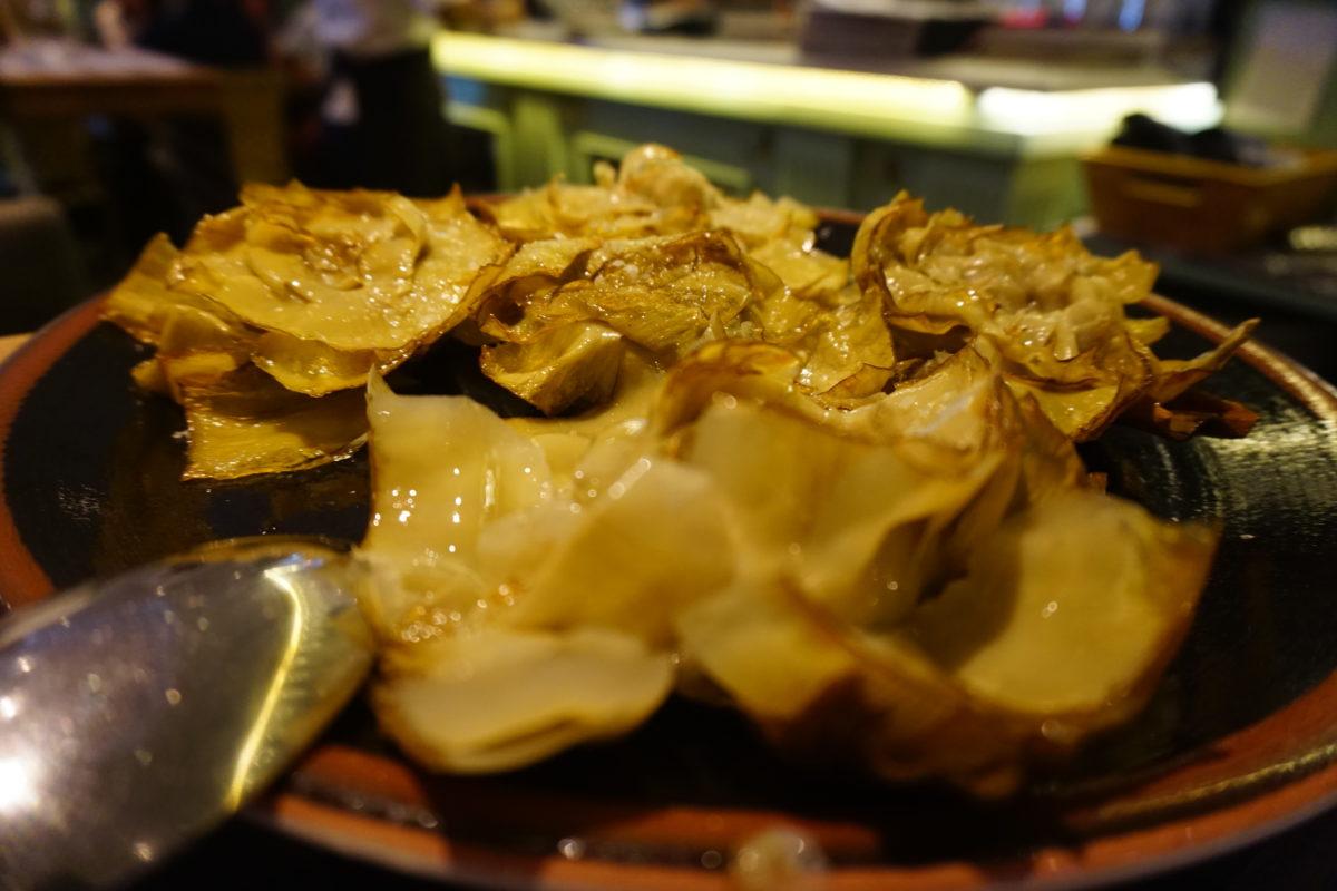 マドリードの中心部バスク料理人気レストラン<ピミエント・ベルデ>