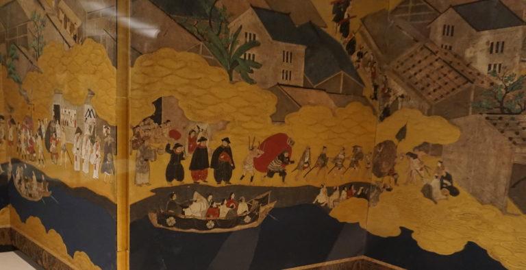 南蛮人が描かれた屏風