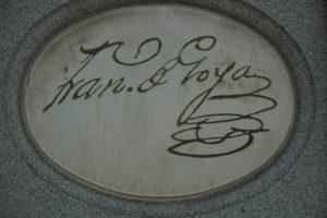 ゴヤの銅像