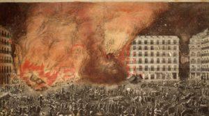 マヨール広場の火災