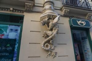 バレンシアの街のモデルニズム建築