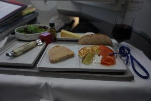 エアーフランス、ビジネスクラス、食事