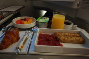 エアーフランス、機内食