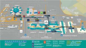 パリ、シャルルドゴール空港ターミナル2見取り図