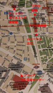 プラド美術館周辺図