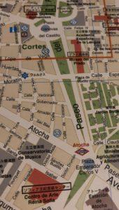 プラド美術館界隈の地図