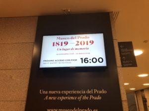 プラド美術館特別展入り口