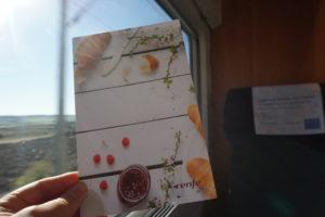 スペイン新幹線、食事メニュー