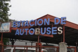 サンチアゴの道サリアのバス駅