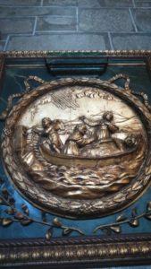 サンチアゴの道、聖ヤコブの遺骸を運ぶ弟子たち