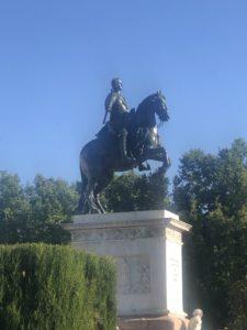 オリエンテ広場のフェリペ4世像