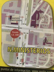 ヌエボスミニステリオの代替えバス乗り場