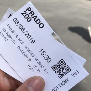 プラド美術館切符にフラアンジェリコの入場指定